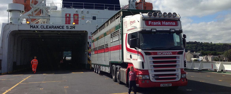 Frank Hanna Livestock Haulage Ireland transport lairage